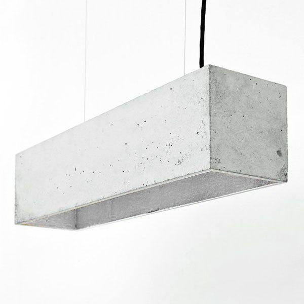 B4 Rectangular Pendant Light – Grey & Silver