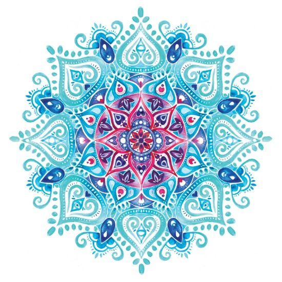 Best 25 Watercolor Mandala Ideas On Pinterest