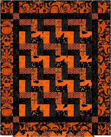 Several Free Halloween Quilt Patterns and/or Ideas