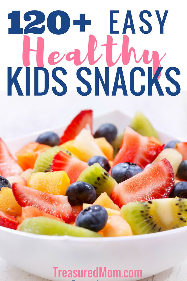With over 120 Easy Healthy Snacks For Kids, you'll never run out of options. These are all gluten-free snack ideas, too. Stock your pantry with these kid-friendly snack ideas and you'll always be ready, too. Download the Free Healthy Snack Ideas For Kids Printable. via @treasuredmom