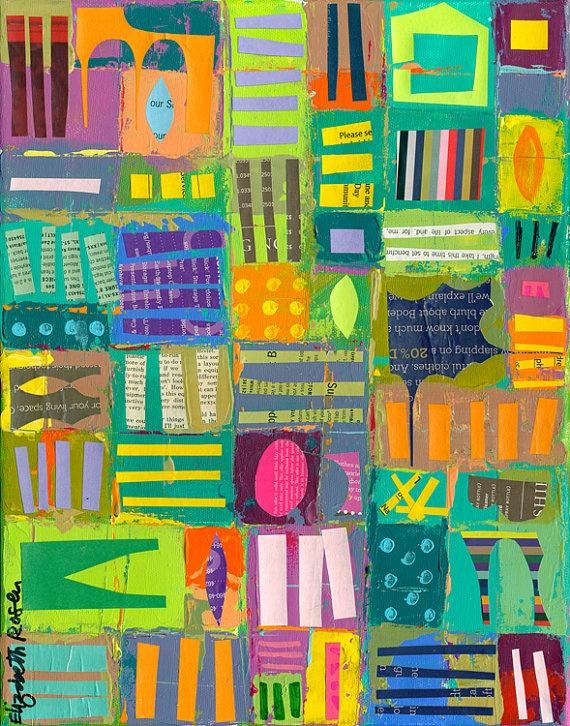 (Elizabeth Rosen) recycle collage