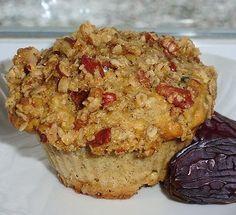 Les délices de Maya: Muffins à l'avoine, aux dattes et à l'érable et son croustillant aux pacanes