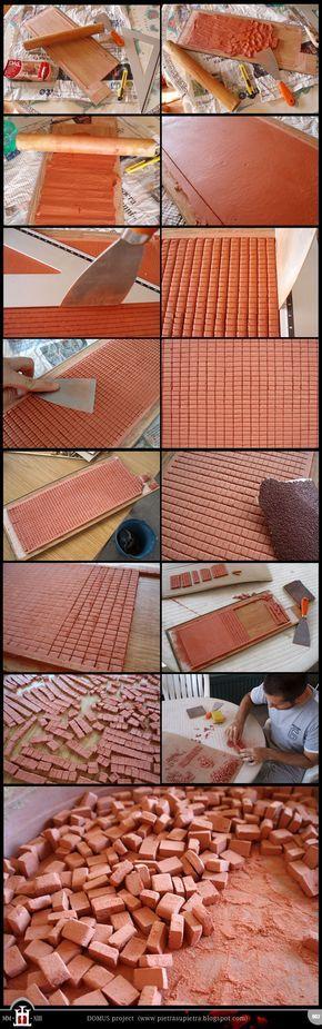 Domus project 2: Homemade miniature bricks by Wernerio.deviantart.com on @deviantART