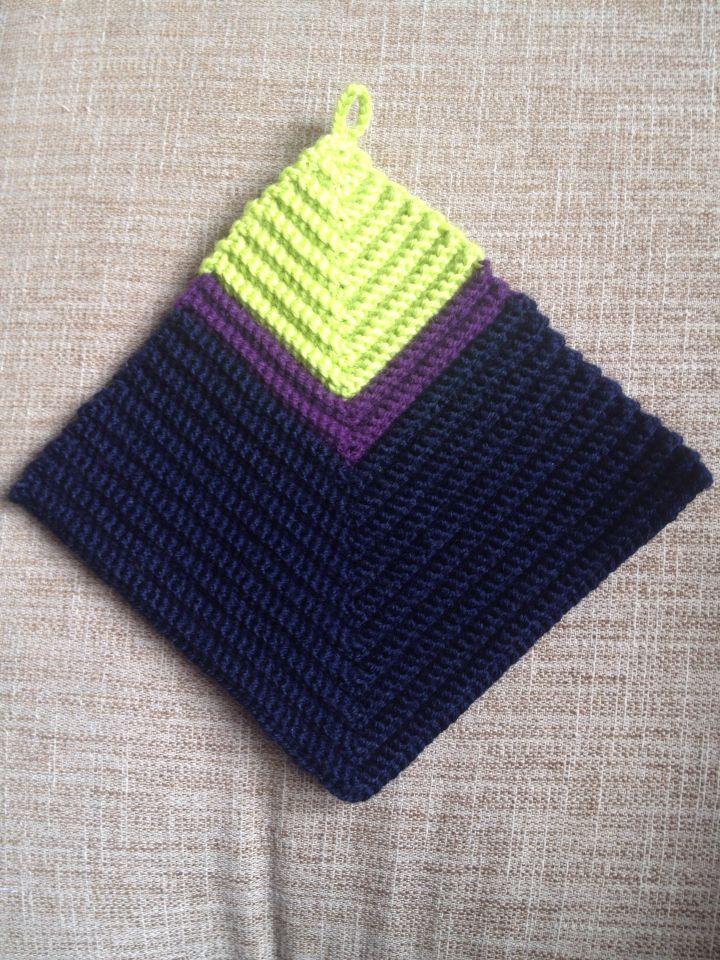 Crochet.   Hæklede grydelapper