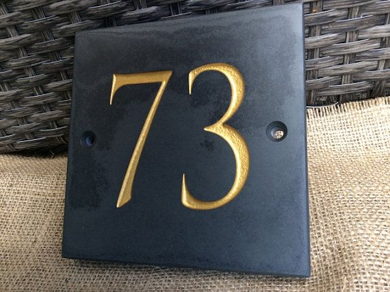 Slate House Numbers by ScottishSlateGift on Etsy
