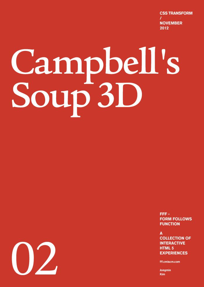 Form Follows Function - Campbell's Soup 3D