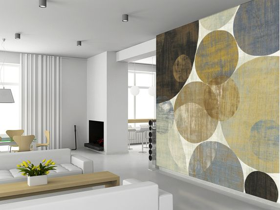 Circulation II wall mural living room preview