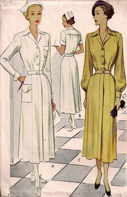 1940s nurse uniform | 1940s Nurses Uniform or Ladies Frock | Flickr - Photo Sharing!