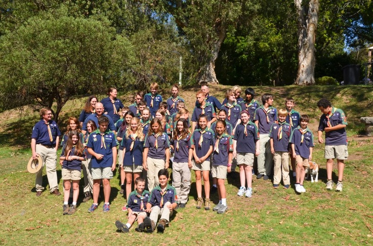 Troop B35 leaving Roseville NSW on Monday afternoon.