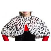 CHILDRENS DALMATIAN PRINT EVIL DOG LADY FANCY DRESS CAPE PERFECT FOR SCHOOL BOOK WEEK & WORLD BOOK DAY CHARACTER FANCY DRESS COSTUME ACCESSORY