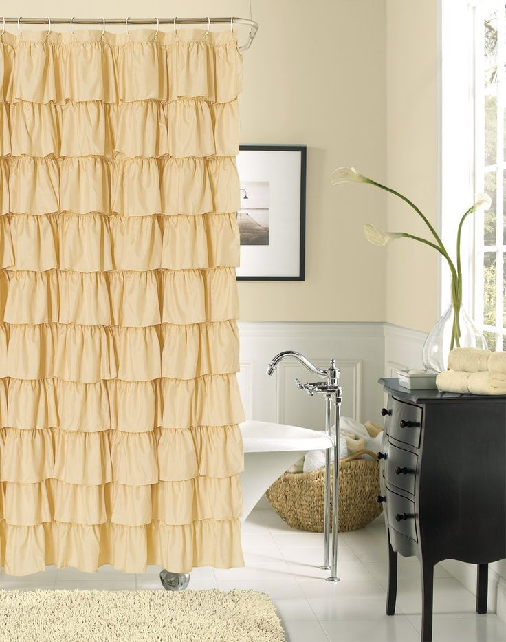 Ruffled Shower Curtains Shabby Chic Homes And Shower Curtains On Pinterest