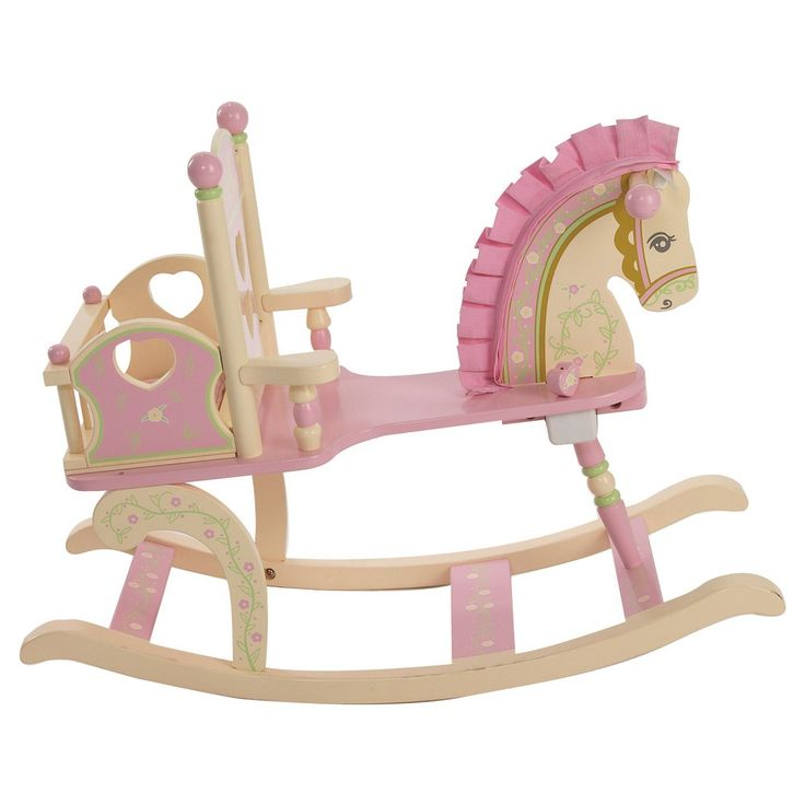 Rock-A-My-Baby Rocking Horse - Pink - Levels Of Discovery