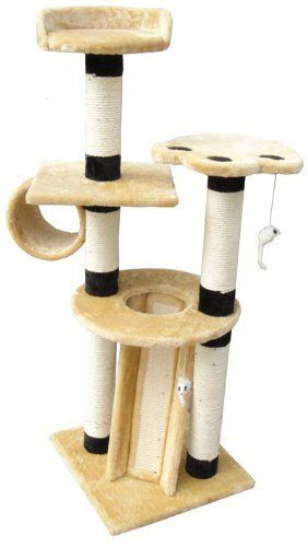 "EliteField Cat Tree EFCT-3051, 18""L x 18""W x 51""H by EliteField, http://www.amazon.com/dp/B0060EZW3K/ref=cm_sw_r_pi_dp_Z9wgrb0QD5MSD18L, 18W, Pets Supplies, Trees Furniture, Trees Efct 3051, Cat Trees, Trees Efct3051, Pet Supplies, Elitefield Cat"
