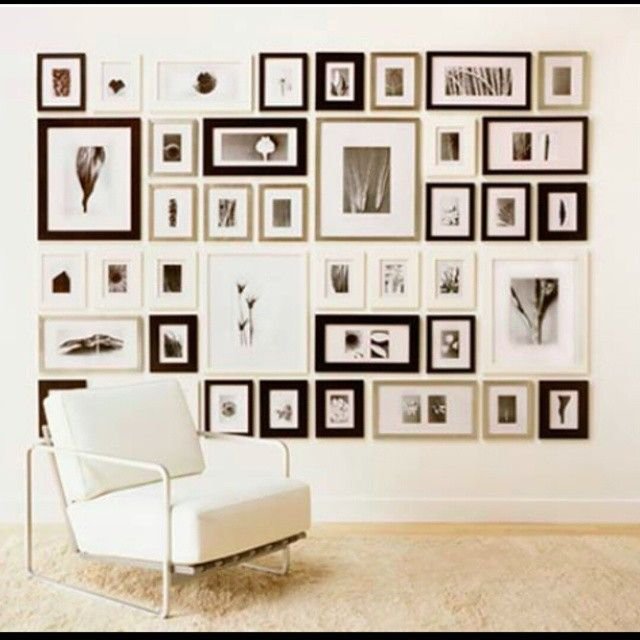 amazing is this photo wall!! All of these frames are from the RIBBA ikea range.