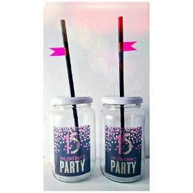 Frascos Vasos Tragos Frases Fiesta Chops Personalizados Fluo - $ 37,00