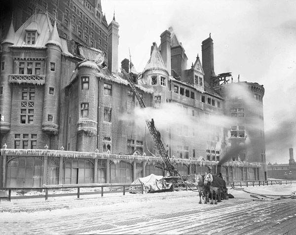 Incendie au Château Frontenac, 1926.