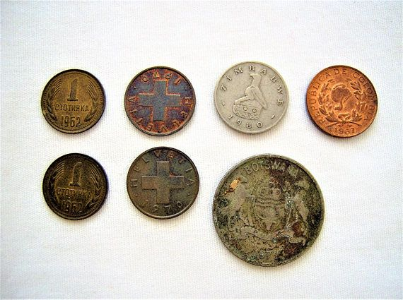 7x Vintage mixed coins