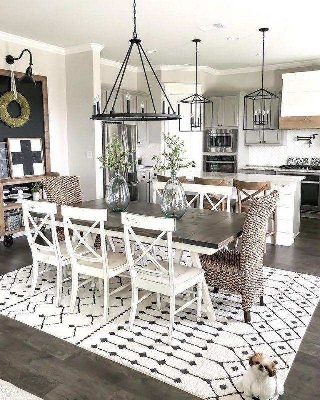 40+ Fabulous Farmhouse Dining Room Decor Ideas