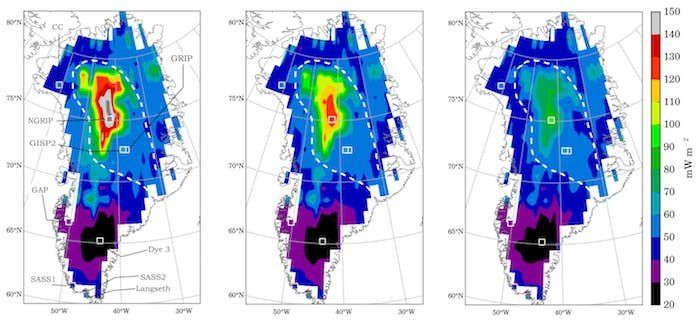 A paper appearing in Geophysical Research Letters uses machine learning to craft an improved model for understanding geothermal heat flux—heat emanating from the Earth's interior—below the Greenland Ice Sheet. It's a research approach new to glaciology that could lead to more accurate predictions for ice-mass loss and global sea-level rise.