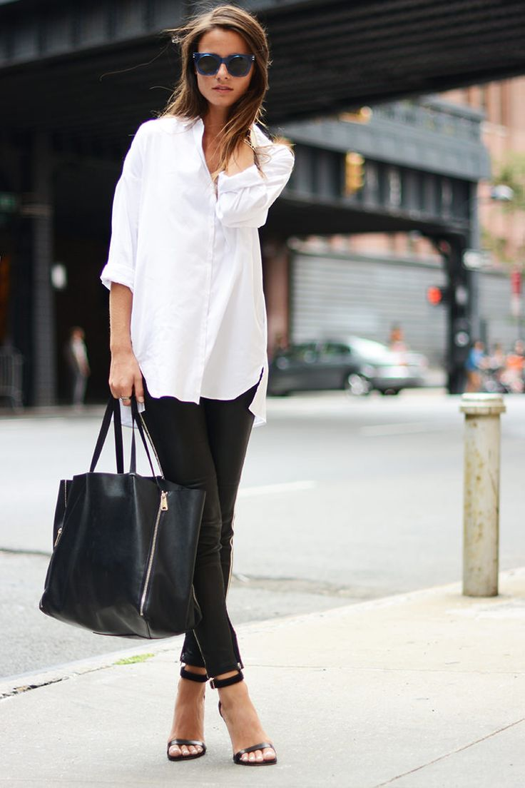 @roressclothes closet ideas #women fashion outfit #clothing style apparel Casual Chic Black & White Outfit for Summer