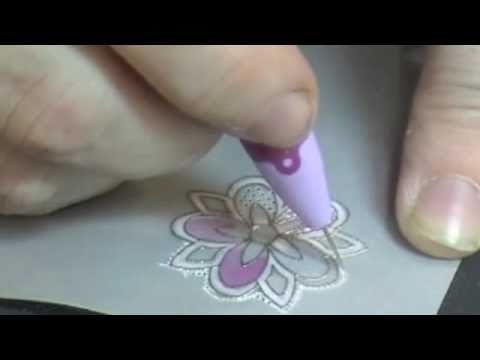 "watch! great #video on ""ParchmentCrafting"" (Pergamano®) with rubber stamps by SweetStamps.com. Learn to emboss, etch, pierce, color and cut. called in spanish ""tarjeteríaespañola""  visit me at My Personal blog: http://stampingwithbibiana.blogspot.com/"