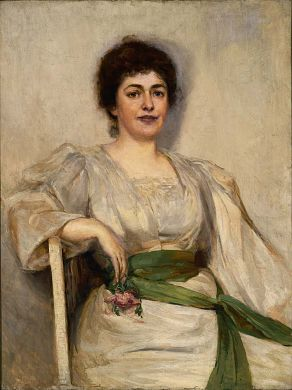 New England Hostess, n.d., Gerard Barry, oil on canvas, 40 1/8 x 30 1/4 in. (101.9 x 76.9 cm.), Smithsonian American Art Museum, Gift of Laura Dreyfus Barney and Natalie Clifford Barney in memory of their mother, Alice Pike Barney, 1952.13.72