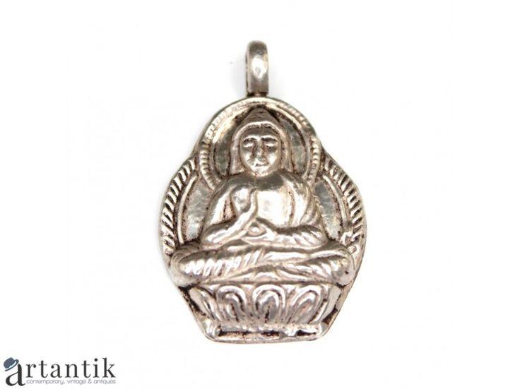 Amuleta nepaleza - Buddha - manufactura in argint