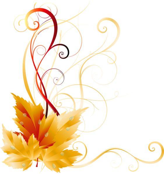 transparent fall leaves decor