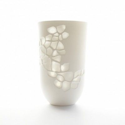 Tanya La Mantia_Vase or votive with physsalis lace pattern height 18cm diametre 11cm