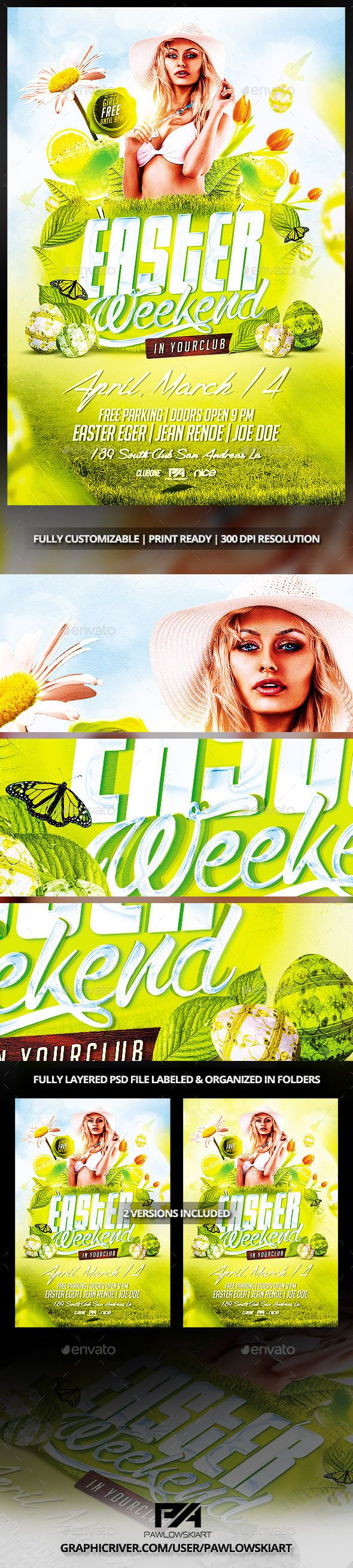Easter Weekend Flyer Template - Events Flyers