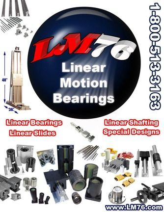 This catalog is an overview of LM76 linear motion products. Details our range of sleeve-type linear bearings, roller system bearings, linear shafting and linear slides. http://www.catalogindustry.com/en/Document/161/lm76-capabilities-brochure-linear-motion-bearings-catalogs