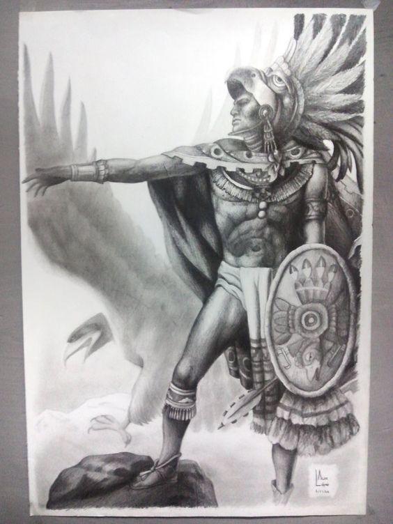 Dibujos De Aztecas Lapiz Wwwimagenesmycom