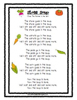 Unit 3 Week 1 The Real Story of Stone Soup Mrs. Albanese's Kindergarten Class: Stone Soup...FREEBIES!