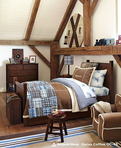 I need to start thinking about how to redo Carter's nursery into a boy room with the brown and blue color scheme