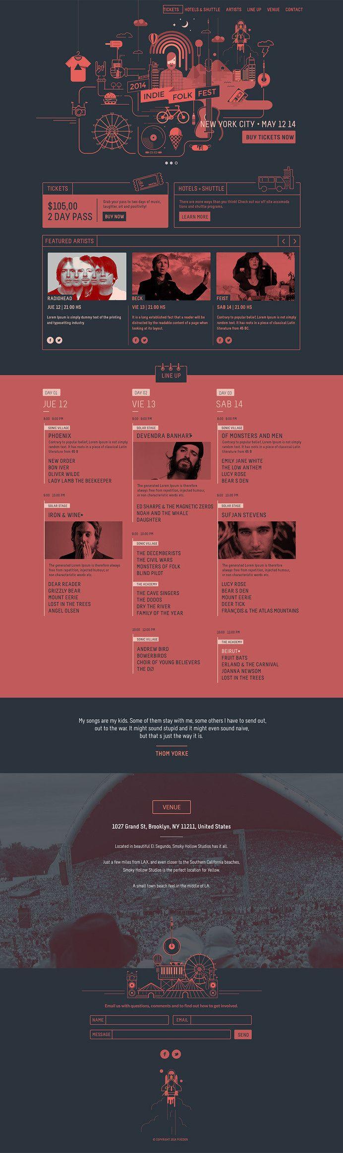 Psd Festival Event Website Template #psd template #web