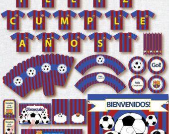 Banderin Feliz Cumpleaños  Barcelona