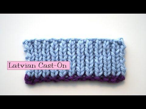 Knitting Help - Latvian Long-Tail Cast-On - YouTube