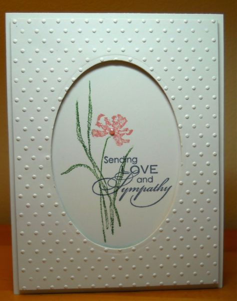 hand crafted card .. Sympathy Framed in Dots by susanbri ... clean