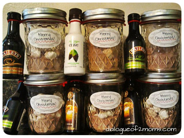 DIY Adult Hot Chocolate Kits. PERFECT Christmas present for next year!