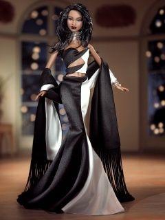Black Barbie Dolls - Bing Images  Looks like a Bob Mackey outfit