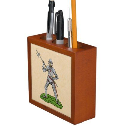 #Fifteenth Century English Knight Desk Organizer - #office #gifts #giftideas #business