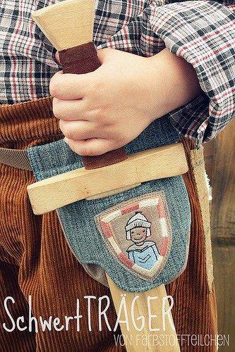 Holzschwert, selbermachen, Geschenk für Jungs, farbenmix