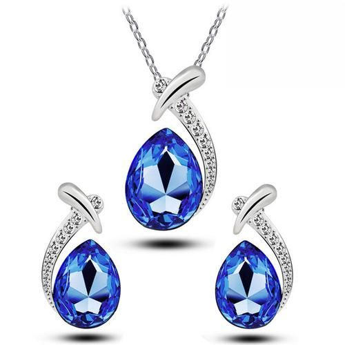 Tear Drop Earrings & Necklace Set    BUY HERE => www.beeutifuljewels.com