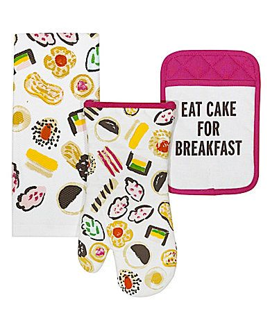 kate spade new york Eat Cake For Breakfast 3Piece Kitchen Linens Set #Dillards
