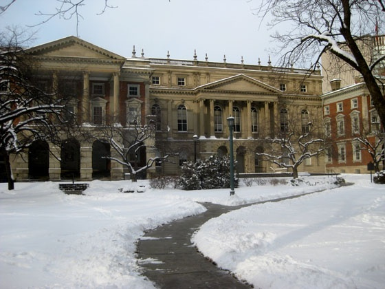 Osgoode Hall, 130 Queen Street West, adjacent to New City Hall, is a heritage building and the centre of legal activity in Ontario.  The Law Society of Upper Canada set itself up here in 1829, when the surroundings were more rural than urban.  The name Osgoode Hall honours William Osgoode, the first Chief Justice of the province.