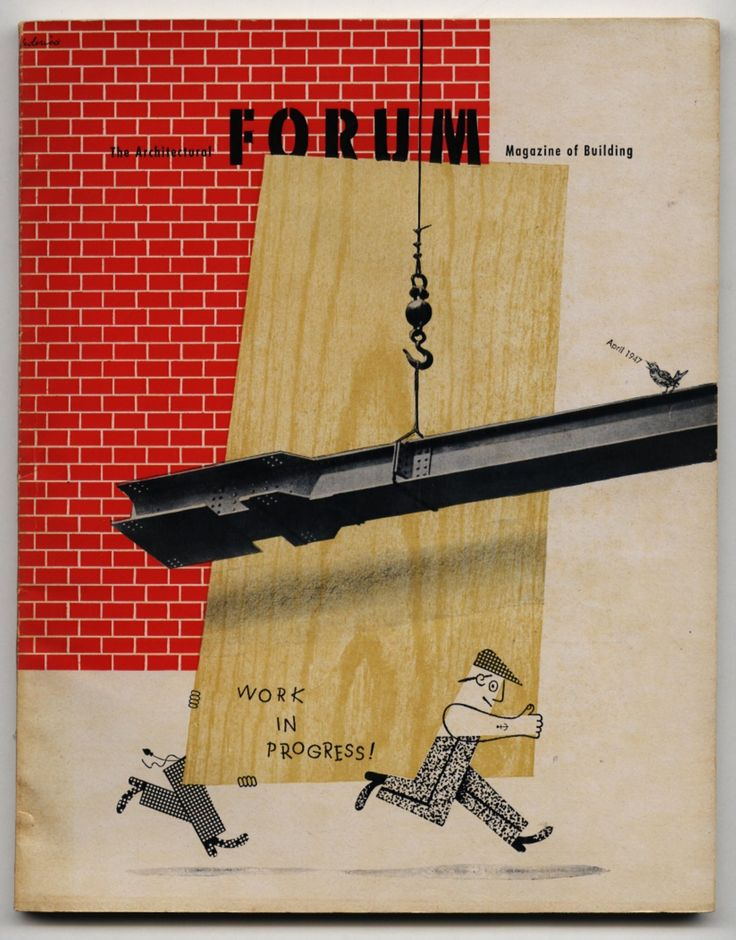 THE ARCHITECTURAL FORUM. 1947. [Volume 86, Number 4]. Cover Design by Gene Federico.