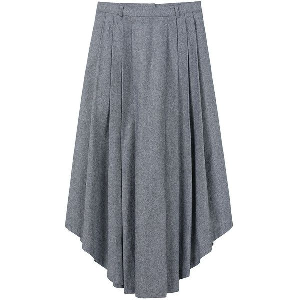 Tom Scott Long Pleated Skirt. (76.375 HUF) ❤ liked on Polyvore featuring skirts, bottoms, women, long blue maxi skirt, long skirts, knife pleat maxi skirt, pleated maxi skirt and blue pleated skirt
