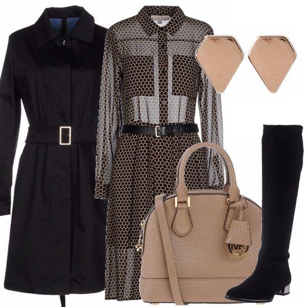 Se non fosse per l'abito molto trasparente direi un outfit abbastanza classico…