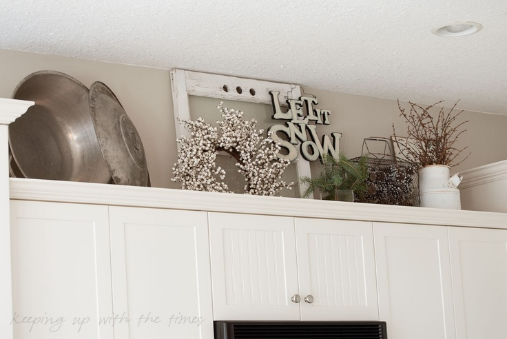 Great idea for above cabinets