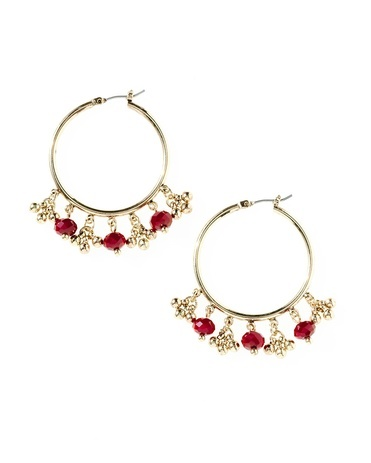 Gilded berries hoop earrings - [K15062] $34.95 0on sale for $19.99